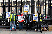 The British museum picket line. PCS Budget Day Strikes were held all over London, followed by a rally outside the House of Commons. 20th March 2013.