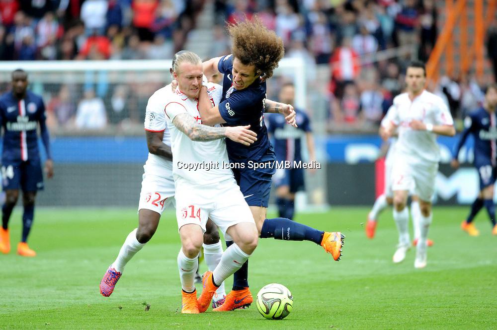 David LUIZ / Simon KJAER - 25.04.2015 - Paris Saint Germain / Lille - 34eme journee de Ligue 1<br />Photo : Nolwenn Le Gouic / Icon Sport