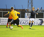 Martin Boyle fires Dundee 2-1 ahead - Dundee v Dundee United, SPFL Development League at Gayfield, Arbroath<br /> <br />  - &copy; David Young - www.davidyoungphoto.co.uk - email: davidyoungphoto@gmail.com