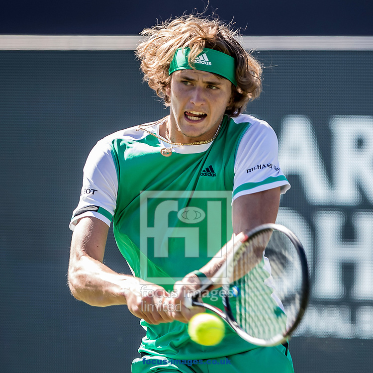 Alexander Zverev (GER) on day three of the Ricoh Open Tennis Tournament at the Autotron, Rosmalen, Netherlands.<br /> Picture by Joep Joseph Leenen/Focus Images Ltd +316 5261929<br /> 14/06/2017<br /> ***NETHERLANDS OUT***