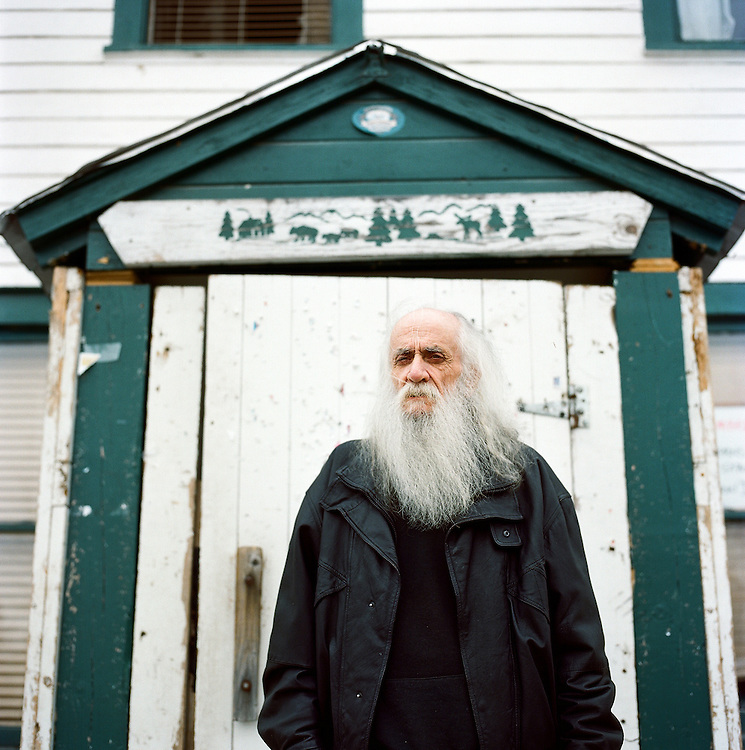 Artist Jim Gleason of Talkeetna, Alaska. 2010