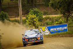 November 18, 2017 - New South Wales, Australia - Thierry Neuville (BEL) and co-driver Nicolas Gilsoul (BEL) of Hyundai Motorsport compete in the Argents section on day two of the Rally Australia round of the 2017 FIA World Rally Championship in Australia. (Credit Image: © Hugh Peterswald/Pacific Press via ZUMA Wire)
