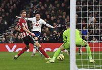 Football - 2019 / 2020 Premier League - Tottenham Hotspur vs. Sheffield United<br /> <br /> Tottenham Hotspur's Son Heung-Min goes close in the second half, at Tottenham Hotspur Stadium.<br /> <br /> COLORSPORT/ASHLEY WESTERN