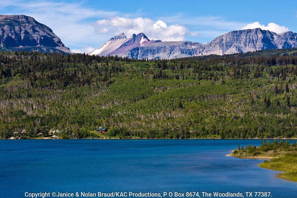 Saint Mary Lake in Glacier National Park in Montana.