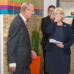 Mcc0055036.DT News.HRH The Duke of Edinburgh visits the Margaret Pyke Centre which provides basic and specialist sexual reproductive healthcare in London where he unveiled a plaque and observed a training medical procedure.Pic Shows The Duke unveiling a plaque to commemorate his visit