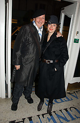 Milliner STEPHEN JONES and ALEXIS TEPLIN at the Grand Classics screening of Manhattan hosted by Giles Deacon at the Electric Cinema, Portobello Road, London W11 on 13th November 2006.<br />