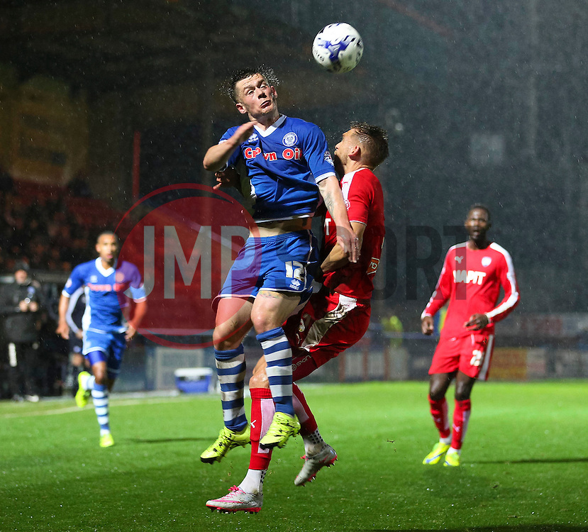Donal McDermott of Rochdale in action  - Mandatory byline: Matt McNulty/JMP - 07966 386802 - 06/10/2015 - FOOTBALL - Spotland Stadium - Rochdale, England - Rochdale v Chesterfield - Johnstones Paint Trophy