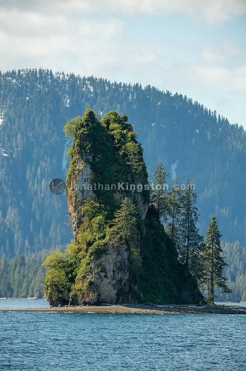 New Eddystone Rock, Tongass National Forest, Ketchikan, Alaska.