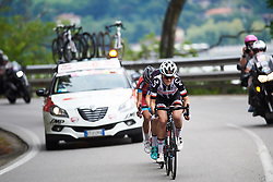 Ruth Winder (USA) leads the escape on the run in to the finish at Giro Rosa 2018 - Stage 5, a 122.6 km road race starting and finishing in Omegna, Italy on July 10, 2018. Photo by Sean Robinson/velofocus.com