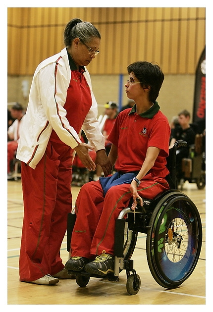 Boccia England International Competition. Wigan 26-06-2011. After 11.30am