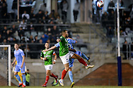 SYDNEY, AUSTRALIA - AUGUST 21:Marconi Stallions player Liam Youlley (16) and Melbourne City player Adrian Luna (20) go up for the ball during the FFA Cup round of 16 soccer match between Marconi Stallions FC and Melbourne City FC on August 21, 2019 at Marconi Stadium in Sydney, Australia. (Photo by Speed Media/Icon Sportswire)