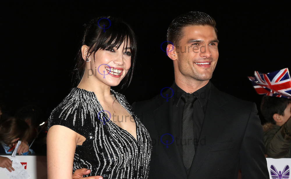 Daisy Lowe, Aljaz Skorjanec, Pride of Britain Awards, The Grosvenor House Hotel, London UK, 31 October 2016, Photo by Richard Goldschmidt