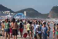 General view of the FIFA Fan Fest on a packed Copacabana beach, Rio de Janeiro, Brazil. Picture by Andrew Tobin/Focus Images Ltd +44 7710 761829<br /> 17/06/2014