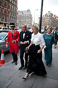 Marquess and Marchioness of Doura, Gala pre-royal  wedding dinner held at the Mandarin Oriental Hyde Park. LONDON.  on April 28-DO NOT ARCHIVE-© Copyright Photograph by Dafydd Jones. 248 Clapham Rd. London SW9 0PZ. Tel 0207 820 0771. www.dafjones.com.