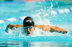 Vasja Dover competes in 100m Butterfly during Slovenian Swimming National Championship 2014, on August 3, 2014 in Ravne na Koroskem, Slovenia. Photo by Vid Ponikvar / Sportida.com