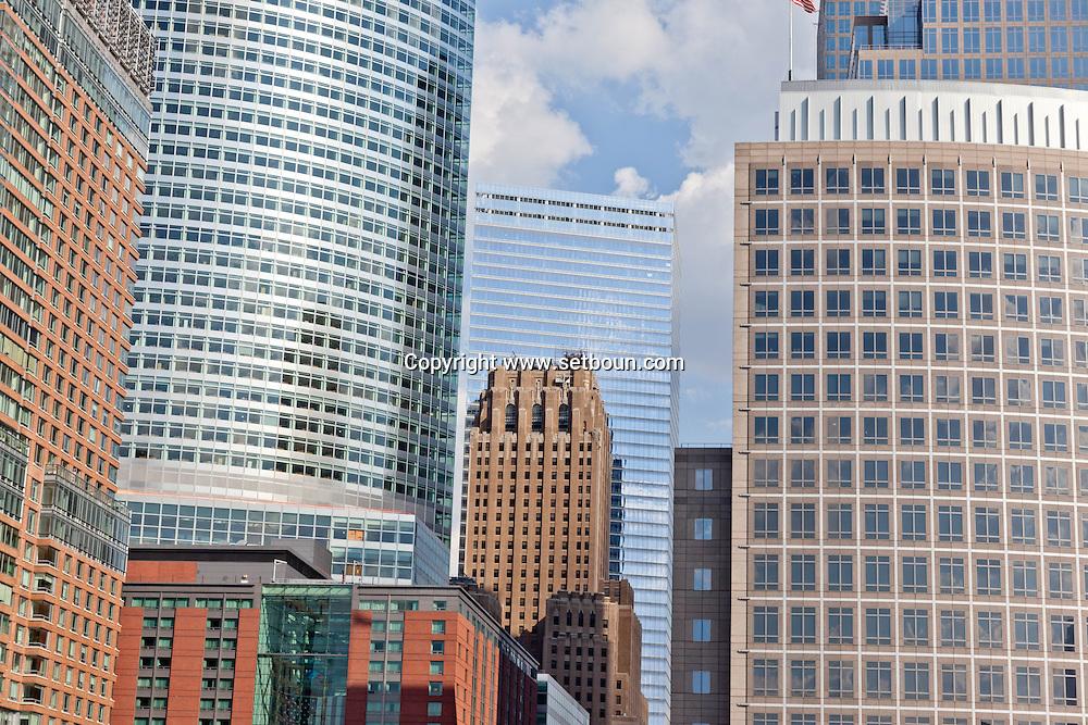 New York. les tours du world financial center,  downtown, lower manhattan New york - United states  Manhattan  /   les tours du world financial center  New york - Etats unis