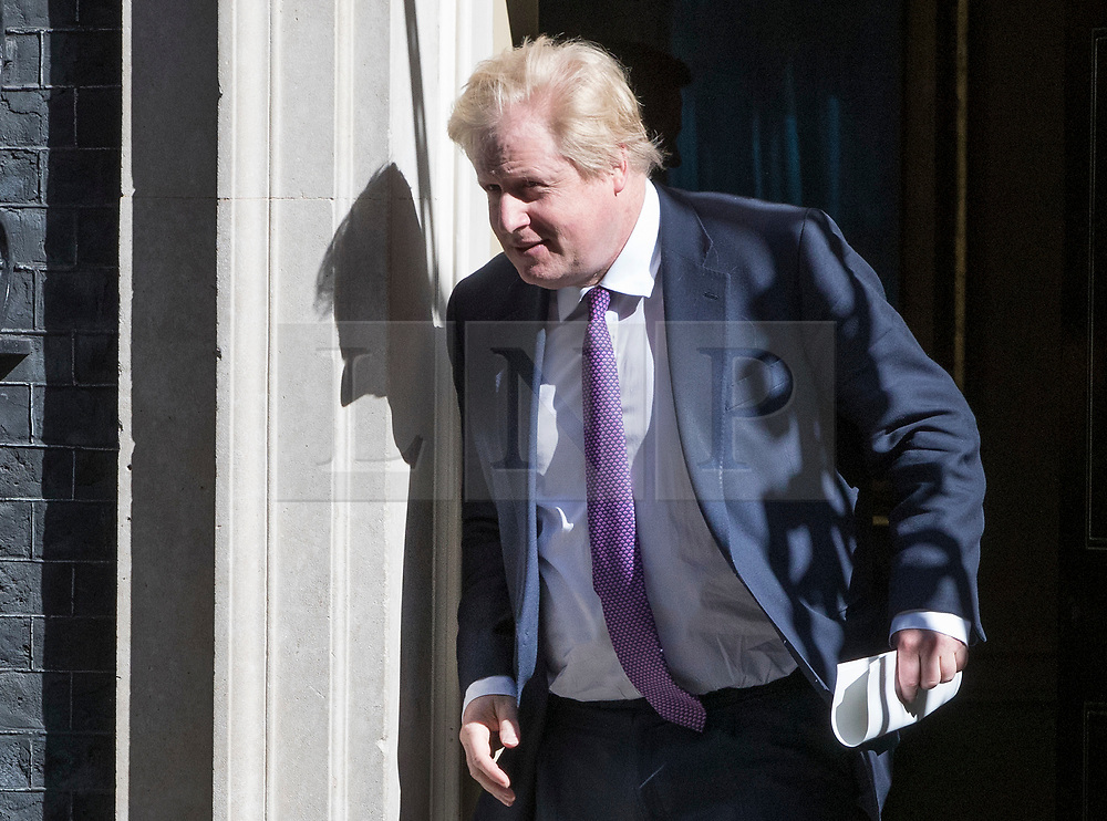 © Licensed to London News Pictures. 25/04/2017. London, UK. Foreign Secretary Boris Johnson, leaves Downing Street after attending the penultimate Cabinet meeting ahead of the election on June 8th, 2016. Photo credit: Peter Macdiarmid/LNP