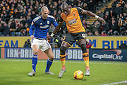 Mohamed Diamé (Hull City) during the Sky Bet Championship match between Hull City and Cardiff City at the KC Stadium, Kingston upon Hull, England on 13 January 2016. Photo by Mark P Doherty.