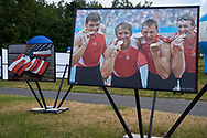 Poznan, Poland - 2019 June 22: Photo Exhibition by Adam Nurkiewicz & Julia Kowacic displayed iwhile 2019 Rowing World Cup on Malta Lake on June 22, 2019 in Poznan, Poland.<br /> <br /> Mandatory credit:<br /> Photo by © Adam Nurkiewicz<br /> <br /> Adam Nurkiewicz declares that he has no rights to the image of people at the photographs of his authorship.<br /> <br /> Picture also available in RAW (NEF) or TIFF format on special request.<br /> <br /> Any editorial, commercial or promotional use requires written permission from the author of image.<br /> <br /> Image can be used in the press when the method of use and the signature does not hurt people on the picture.