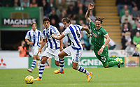10/07/15 PRE-SEASON FRIENDLY<br /> CELTIC v REAL SOCIEDAD<br /> ST MIRREN PARK - PAISLEY<br /> Stefan Johansen (right) loses out to Sociedad's Inigo Martinez
