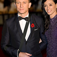 London Oct 29  Daniel Craig and Satsuki Mitchell attend the Royal World Premiere Quantum of Solace at Odeon Leicester Square on Oct 29th 2008 in London England..***Licence Fee's Apply To All Image Use***.XianPix Pictures  Agency  tel +44 (0) 845 050 6211 e-mail sales@xianpix.com www.xianpix.com