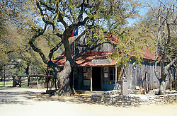 Luckenbach:  Settled in the 1850s and named for its first postmaster, this hamlet 11 miles southeast of Fredericksburg is now an icon of the Texas Hill Country.  Vertical available.