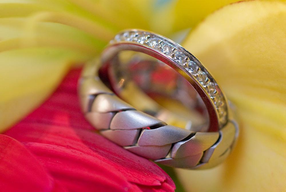 Wedding rings details by Cayman Islands photographer Courtney Platt, Grand Cayman