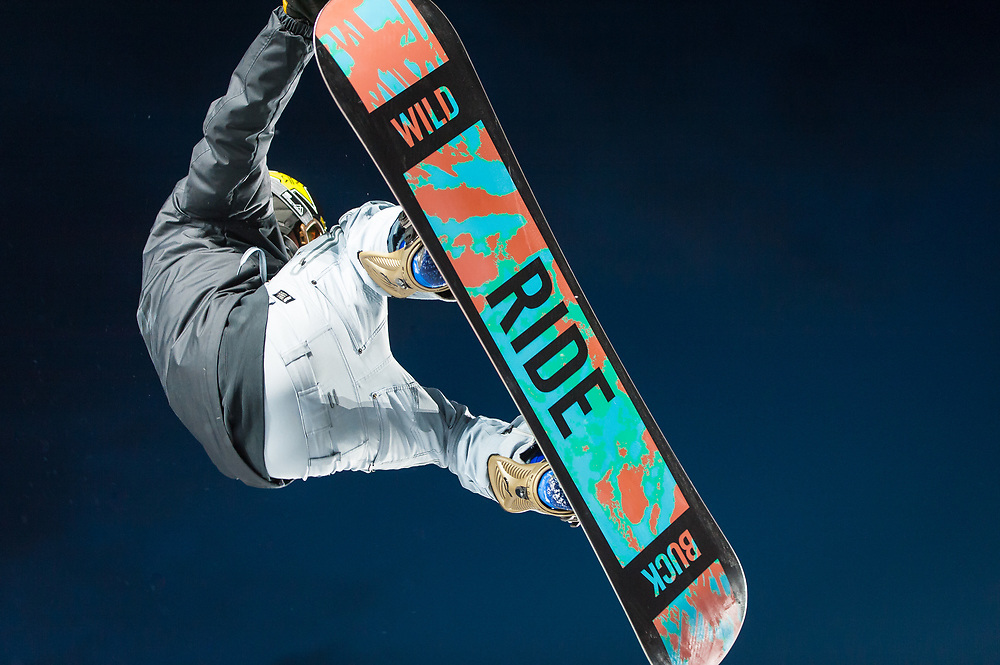 Snowboarder Matt Ladley is pictured at the Winter X Games in Oslo, just before the start of the Men's SuperPipe Finals