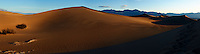 Early Morning Sand Dune Panorama. Composite of 4 images taken with a Nikon D3x and 45 mm f/2.8 PC-E lens (ISO 100, 45 mm, f/16, 1/60 sec). Images processed with Capture One Pro, Focus Magic, PTGui Pro, NIK Capture Efex Pro 2, and converted for web with Photoshop CS5.