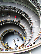 The spiral stairs of the vatican museum in Rome, Italy