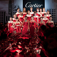 HONG KONG - NOVEMBER 26:  Models pose during the Cartier Flagship Opening Gala Dinner on November 26, 2010 in Hong Kong.  Photo by Victor Fraile / studioEAST