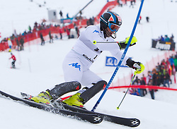 22.01.2012, Ganslernhang, Kitzbuehel, AUT, FIS Weltcup Ski Alpin, 72. Hahnenkammrennen, Herren, Slalom 1. Durchgang, im Bild Cristian Deville (ITA) // Cristian Deville of Italy during Slalom race 1st run of 72th Hahnenkammrace of FIS Ski Alpine World Cup at 'Ganslernhang' course in Kitzbuhel, Austria on 2012/01/22. EXPA Pictures © 2012, PhotoCredit: EXPA/ Johann Groder