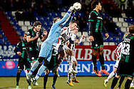 Onderwerp/Subject: Willem II - FC Groningen - Eredivisie<br /> Reklame:  <br /> Club/Team/Country: <br /> Seizoen/Season: 2012/2013<br /> FOTO/PHOTO: Goalkeeper David MEUL (L) of Willem II in duel with Virgil VAN DIJK (R) of FC Groningen. (Photo by PICS UNITED)<br /> <br /> Trefwoorden/Keywords: <br /> #04 #18 $94 ±1355238911262<br /> Photo- & Copyrights © PICS UNITED <br /> P.O. Box 7164 - 5605 BE  EINDHOVEN (THE NETHERLANDS) <br /> Phone +31 (0)40 296 28 00 <br /> Fax +31 (0) 40 248 47 43 <br /> http://www.pics-united.com <br /> e-mail : sales@pics-united.com (If you would like to raise any issues regarding any aspects of products / service of PICS UNITED) or <br /> e-mail : sales@pics-united.com   <br /> <br /> ATTENTIE: <br /> Publicatie ook bij aanbieding door derden is slechts toegestaan na verkregen toestemming van Pics United. <br /> VOLLEDIGE NAAMSVERMELDING IS VERPLICHT! (© PICS UNITED/Naam Fotograaf, zie veld 4 van de bestandsinfo 'credits') <br /> ATTENTION:  <br /> © Pics United. Reproduction/publication of this photo by any parties is only permitted after authorisation is sought and obtained from  PICS UNITED- THE NETHERLANDS