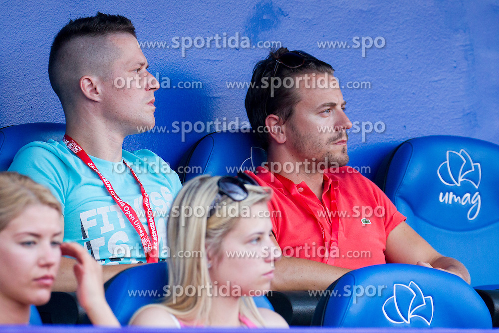 Gasper Pavli (R) during a tennis match in first round of singles at 26. Konzum Croatia Open Umag 2015, on July 22, 2015, in Umag, Croatia. Photo by Urban Urbanc / Sportida
