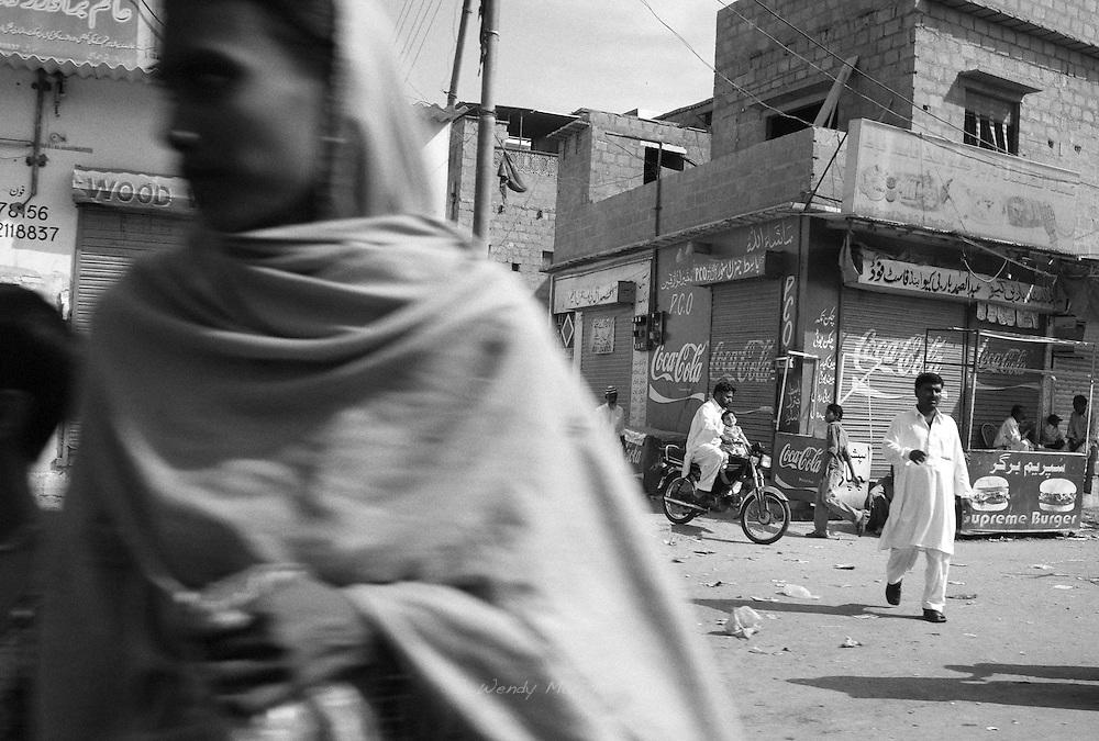 Street scene of Karachi. Pakistan, 2009
