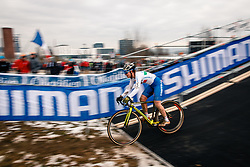 Nicole FEDE of ITA during the Women Under 23 race, UCI Cyclo-cross World Championship at Bieles, Luxembourg, 28 January 2017. Photo by Pim Nijland / PelotonPhotos.com | All photos usage must carry mandatory copyright credit (Peloton Photos | Pim Nijland)