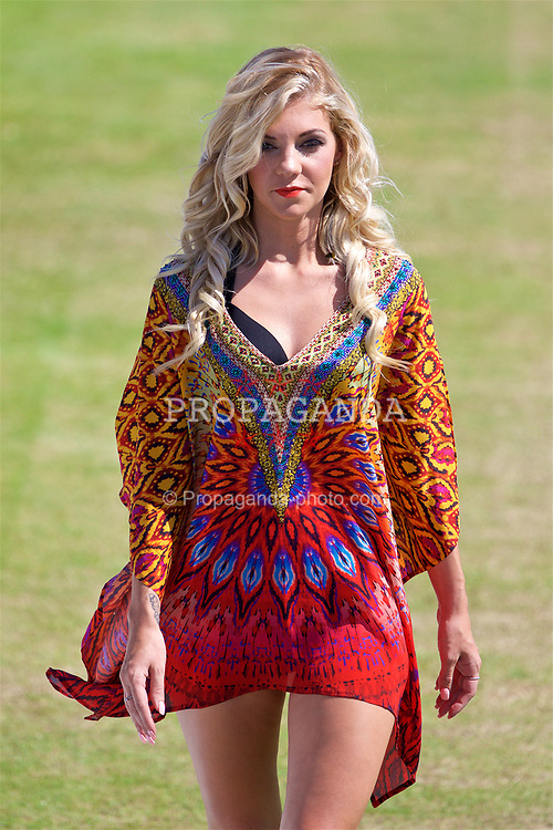LIVERPOOL, ENGLAND - Saturday, June 17, 2017: Model Leah Phillips during Day Three of the Liverpool Hope University International Tennis Tournament 2017 at the Liverpool Cricket Club. (Pic by David Rawcliffe/Propaganda)
