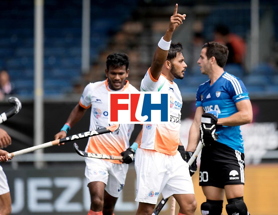 BREDA - Rabobank Hockey Champions Trophy<br /> India - Argentina<br /> Photo: SINGH Harmanpreet celebrates his goal.<br /> COPYRIGHT WORLDSPORTPICS FRANK UIJLENBROEK