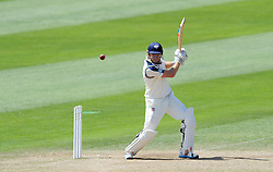 Yorkshire's Jonny Bairstow cuts the ball. Photo mandatory by-line: Harry Trump/JMP - Mobile: 07966 386802 - 27/05/15 - SPORT - CRICKET - LVCC County Championship - Division 1 - Day 4 - Somerset v Yorkshire - The County Ground, Taunton, England.