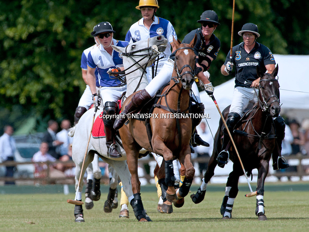 PRINCES WILLIAM &amp; HARRY <br /> play in the Jerudong Trophy Polo Match at Cirencester  Park Polo Club, Cirencester Park, Gloucestershire_14/07/2013<br /> Mandatory Credit Photo: &copy;Robert Piper/NEWSPIX INTERNATIONAL<br /> <br /> **ALL FEES PAYABLE TO: &quot;NEWSPIX INTERNATIONAL&quot;**<br /> <br /> IMMEDIATE CONFIRMATION OF USAGE REQUIRED:<br /> Newspix International, 31 Chinnery Hill, Bishop's Stortford, ENGLAND CM23 3PS<br /> Tel:+441279 324672  ; Fax: +441279656877<br /> Mobile:  07775681153<br /> e-mail: info@newspixinternational.co.ukThe  Jerundong Trophy, held at The Cirencester  Park Polo Club, Cirencester Park, Gloucestershire_14/07/2013<br /> Mandatory Credit Photo: &copy;Robert Piper/NEWSPIX INTERNATIONAL<br /> <br /> **ALL FEES PAYABLE TO: &quot;NEWSPIX INTERNATIONAL&quot;**<br /> <br /> IMMEDIATE CONFIRMATION OF USAGE REQUIRED:<br /> Newspix International, 31 Chinnery Hill, Bishop's Stortford, ENGLAND CM23 3PS<br /> Tel:+441279 324672  ; Fax: +441279656877<br /> Mobile:  07775681153<br /> e-mail: info@newspixinternational.co.uk