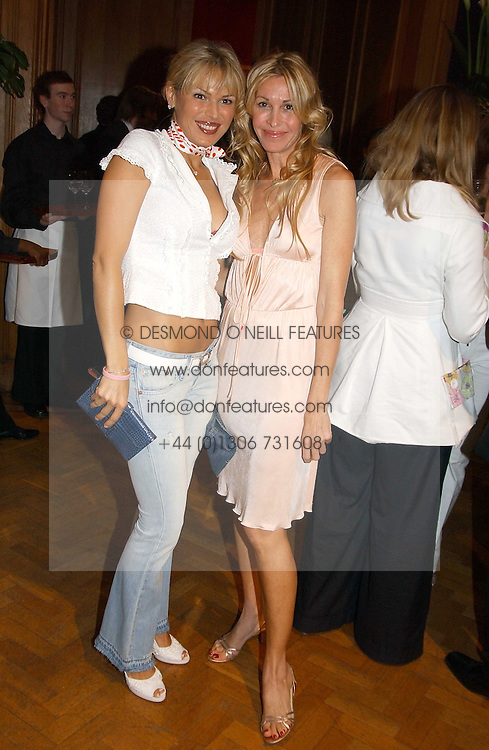 Left to right, DIANA JENKINS and MELISSA ODABASH at '4 Inches' a project 'For Women about Women By Women' - A photographic Auction in aid of the Elton John Aids Foundation hosted by Tamara Mellon President of Jimmy Choo and Arnaud Bamberger MD of Cartier UK at Christie's, 8 King Street, London W1 on 25th May 2005.<br /><br />NON EXCLUSIVE - WORLD RIGHTS