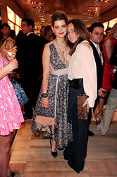 Left to right, PIXIE GELDOF and JEANNE MARINE at a party to celebrate the opening of the Louis Vuitton Bond Street Maison, New Bond Street, London on 25th May 2010.