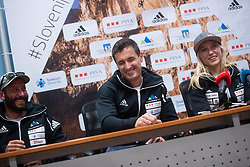 Gorazd Hren and Janja Garnbret during PZS press conference after IFSC Climbing World Championships in Hachioji (JPN) 2019, on August 23, 2019 at Ministry of Education, Science and Sport, Ljubljana, Slovenia. Photo by Grega Valancic / Sportida