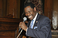 January 11, 2012 - Brooklyn, New York, USA: New York City Council Member Mathieu Eugene (Dist. 40 - Dem) speaks at 2nd Annual Interfaith Memorial Service for Haiti, Wednesday night at Brooklyn Borough Hall. The service was held two years after the Mw 7.0 earthquake at Haiti.