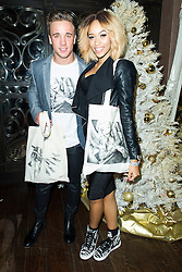 © Licensed to London News Pictures. Sam Callahan and Tamera Foster attend the CAKO & CAKO Kids press launch at Sanctum Soho Hotel in Chelsea, London, UK on 10 December 2013. Photo Credit: Raimondas Kazenas/LNP