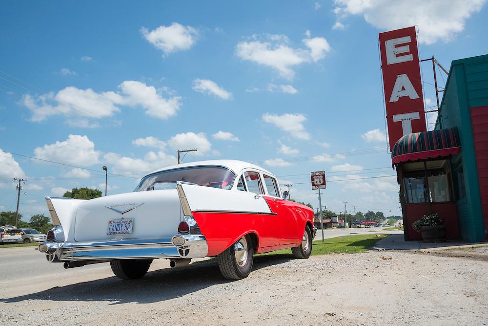 USA, Midwest, Oklahoma, Route 66,Vinita, Clanton's Cafe