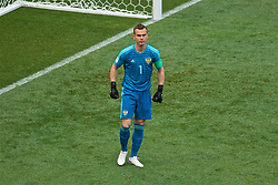 MOSCOW, RUSSIA - Sunday, July 1, 2018: Russia's goalkeeper Igor Akinfeev during the FIFA World Cup Russia 2018 Round of 16 match between Spain and Russia at the Luzhniki Stadium. (Pic by David Rawcliffe/Propaganda)