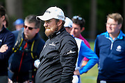 Irish golf professional Shane Lowry looks on intently  during the BMW PGA Championship at the Wentworth Club, Virginia Water, United Kingdom on 26 May 2016. Photo by Simon Davies.