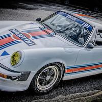 White Porsche racing car