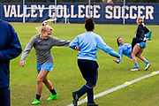 University of North Carolina women's soccer team before a training session at West Valley College on Wednesday, Nov. 30, 2016, in Saratoga, Calif., prior to the NCAA D1 Final Four.